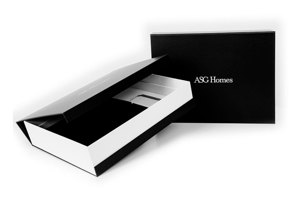 Personalizaciones Caja para entrega de las llaves de pisos, el Telar encuadernaci贸n