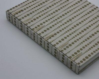 Encuadernación crisscross puntos dorados, el Telar encuadernación.