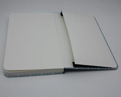 Bolsillo. Encuadernación metida en tapas mapeado y azul eléctrico, el Telar encuadernación.