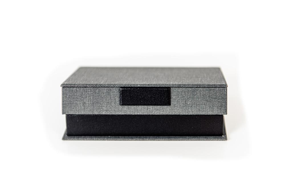 Muestra caja porta factura el Telar encuadernación