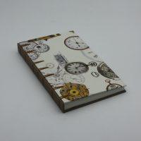 Encuadernación crisscross relojes y beige arena, el Telar encuadernación.