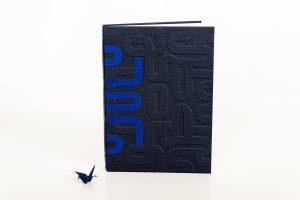 Variante encuadernación Crisscross II de libro en blanco